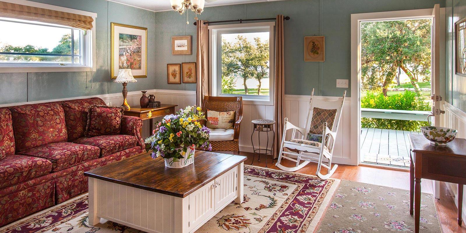 Purple Sage Cottage Living Room